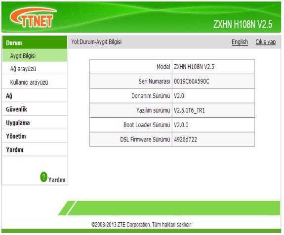ZXHN H108N | ZTE Modem Çağrı Merkezi
